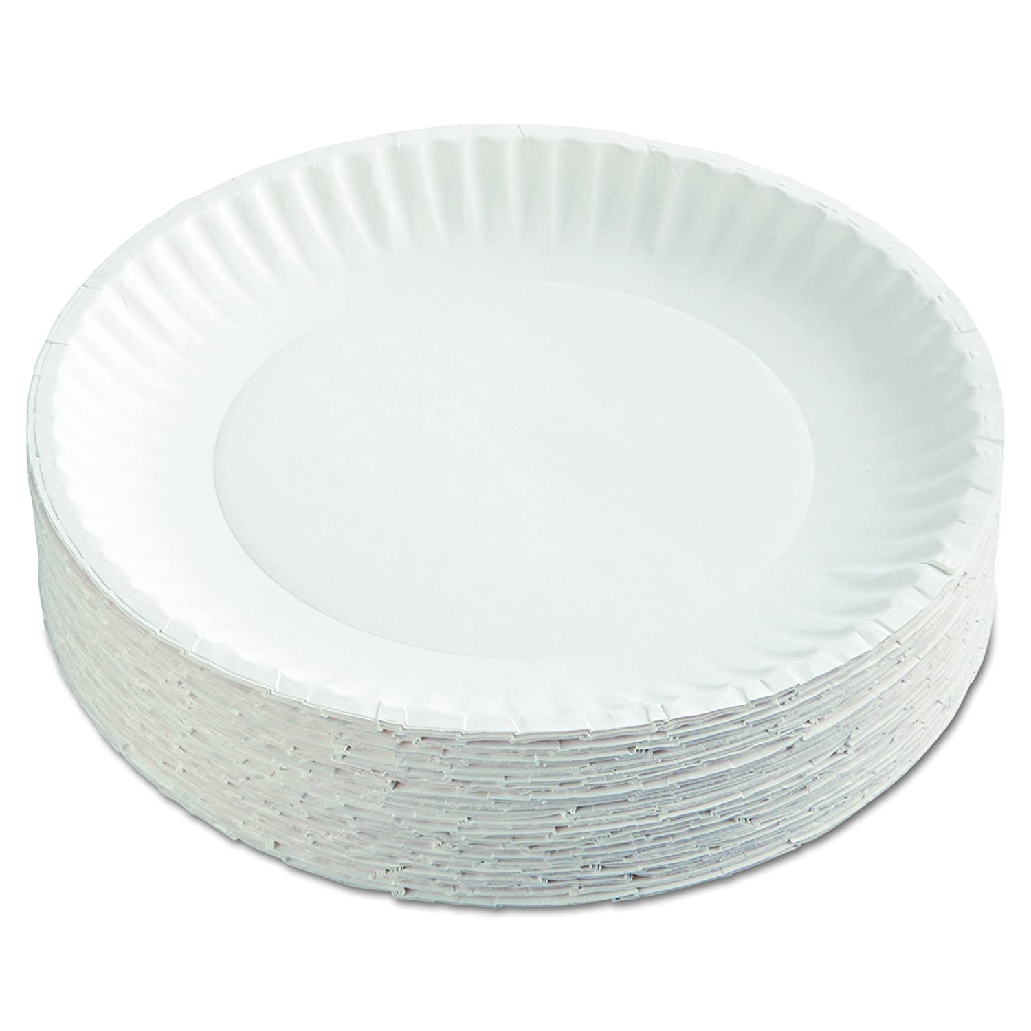 AJM Packaging Corporation PP9GRAWH Paper Plates 9  Diameter White 12 Packs of 100 (Case of 1200)  sc 1 st  Amazon.com : motorcycle paper plates - pezcame.com