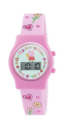 Peppa Pig PP009 - Reloj de pulsera niña, silicona, color rosa: Amazon.es: Relojes