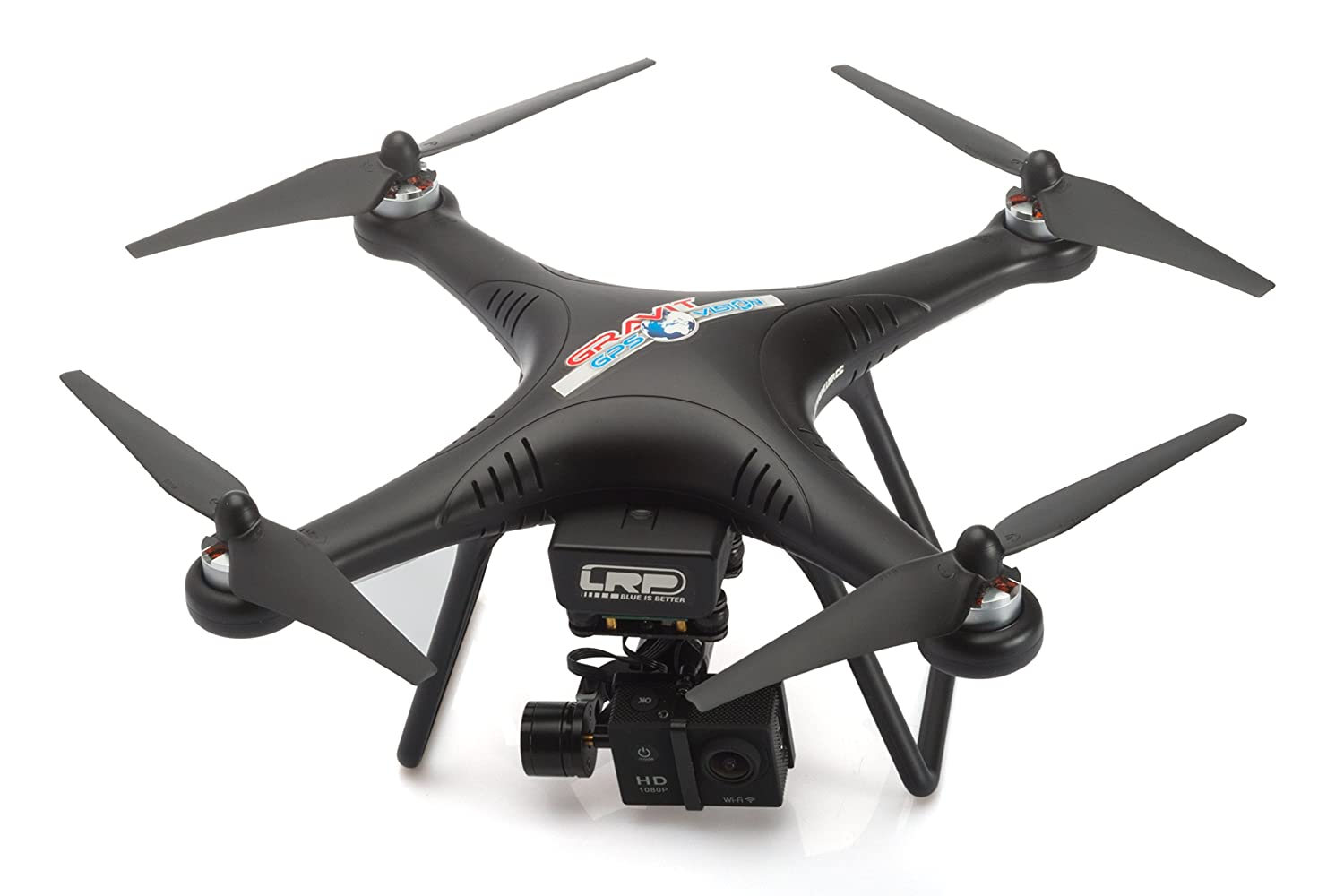 Gravit GPS Vision Pro 2.4GHz Quadrocopter mit 1080p-Action Cam und 2-Achsen-Gimbal  GPS Vision Pro