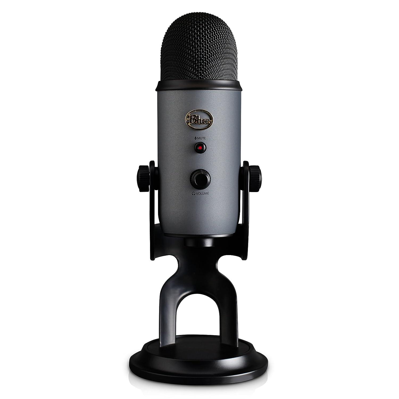 Microfono Condensador Profesional Usb Blue Yeti Slate (Xmp)