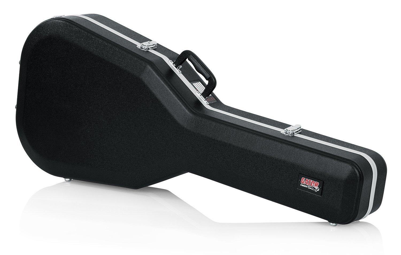 GATOR GC-DREAD-12 - Estuche para guitarra dreadnought (interior moldeado), color negro