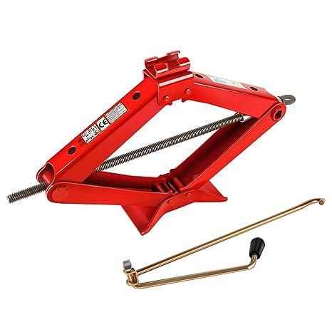 YAOBLUESEA 2T Gato de tijera capacidad de elevación 2000 kg Rojo
