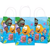 Cute Guppies Party Supplies Goodie Bag with Handle Fish Kraft Paper Bag Party Bag Decor Cute Party Favors Candy Bag for…