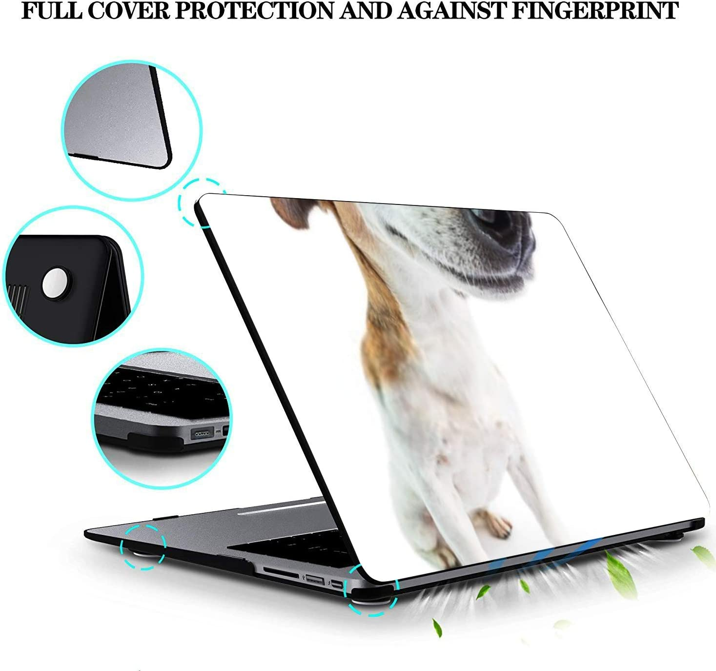 MacBook Pro Case Adorable Funny Smiling Dog White Background MacBook Air 13 A1369//A1466Plastic Case Keyboard Cover /& Screen Protector /& Keyboard Cle