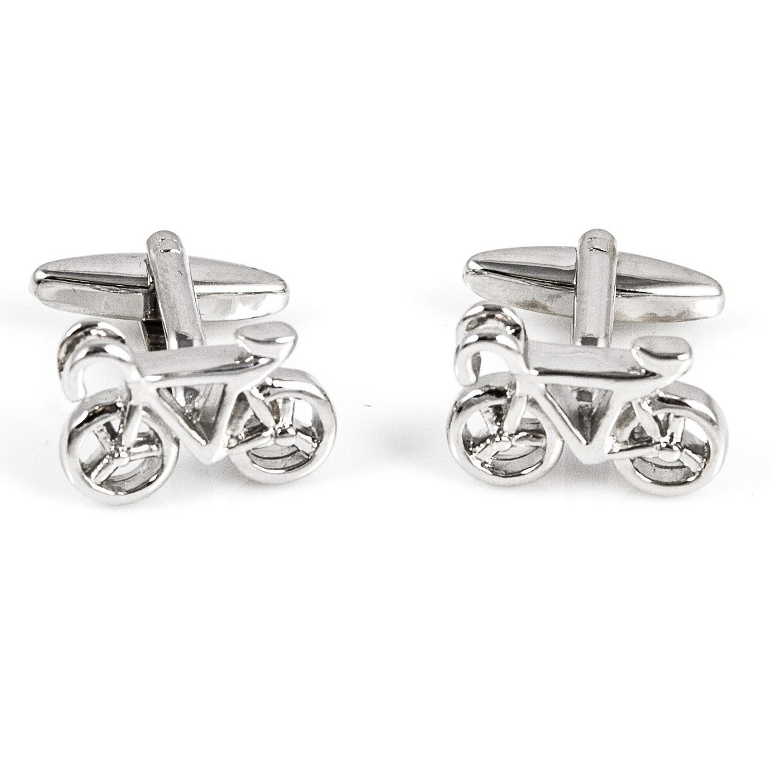 Mens Bike Bicycle Rider Biker Assorted 4 Pairs Of Shirt Cufflinks In A Presentation Gift Box Suit Wedding Business