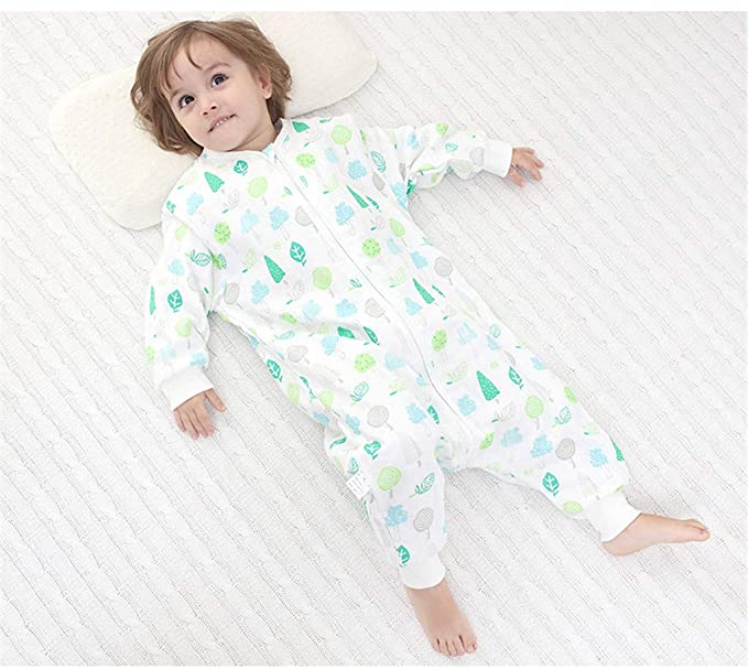 JiAym Baby Early Walker Sleeping Bag with Feet Toddler Blankets Infant Pajamas 1 Tog