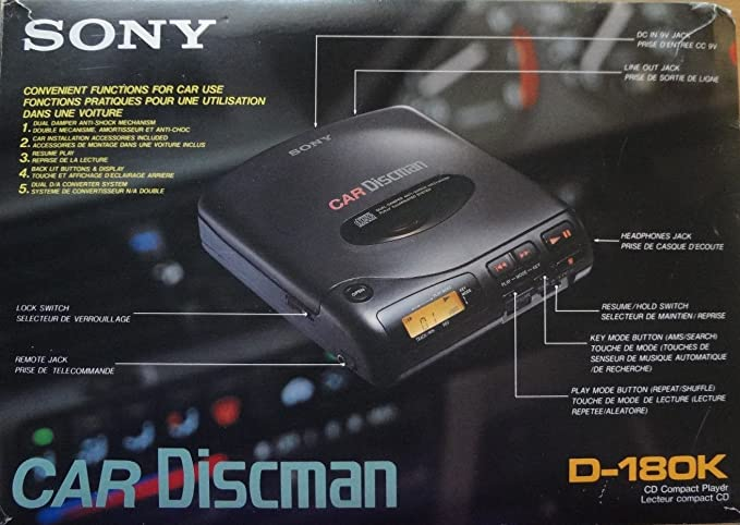 Review Sony Car Discman D-180K