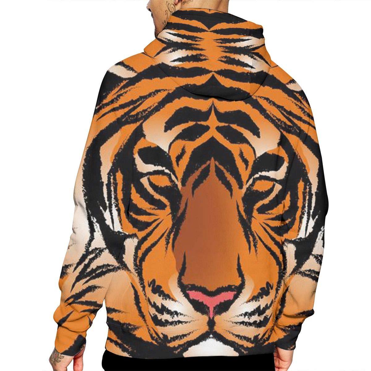Bengal Tiger Mens Pullover Hoodies Hooded Sweatshirts