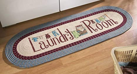 Amazoncom Collections Etc Braided Laundry Room Floor Runner Rug