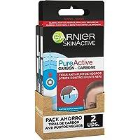 Garnier Skin Active Tiras Anti-Puntos Negros con Carbón Vegetal, Elimina Impurezas y Puntos Negros, Desobstruye Poros…