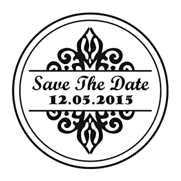 custom save the date wedding self inking invitation stamp