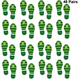 image regarding Leprechaun Feet Printable called : St. Patrick Working day Window Static Hang Decorations