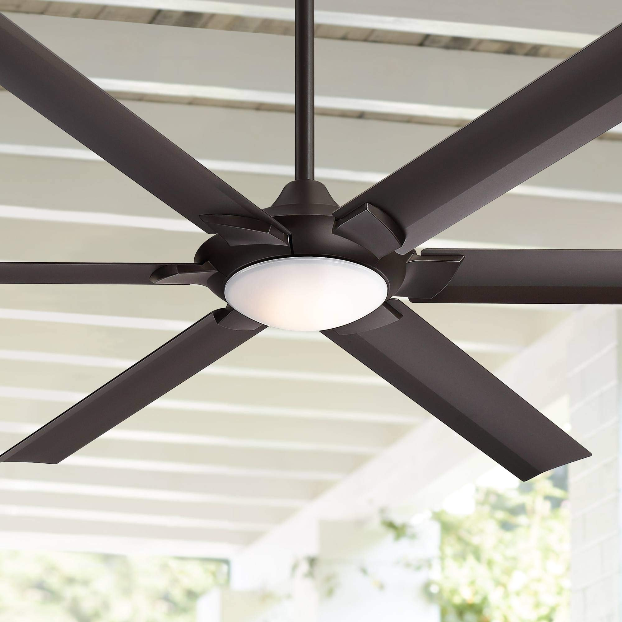 70 Patriarch Industrial Outdoor Ceiling Fan With Light Led Dimmable Remote Control Oil Rubbed Bronze Damp Rated For Patio Porch Casa Vieja Buy Online In India At Desertcart In Productid 171983551