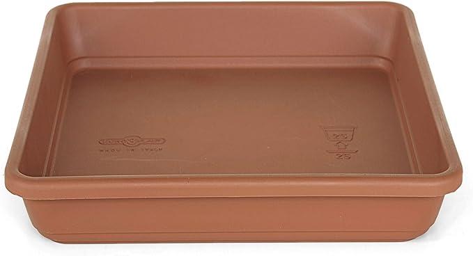 Euro3Plast 1708.01 Krea quadro - Plato para maceta (30 cm), color ...