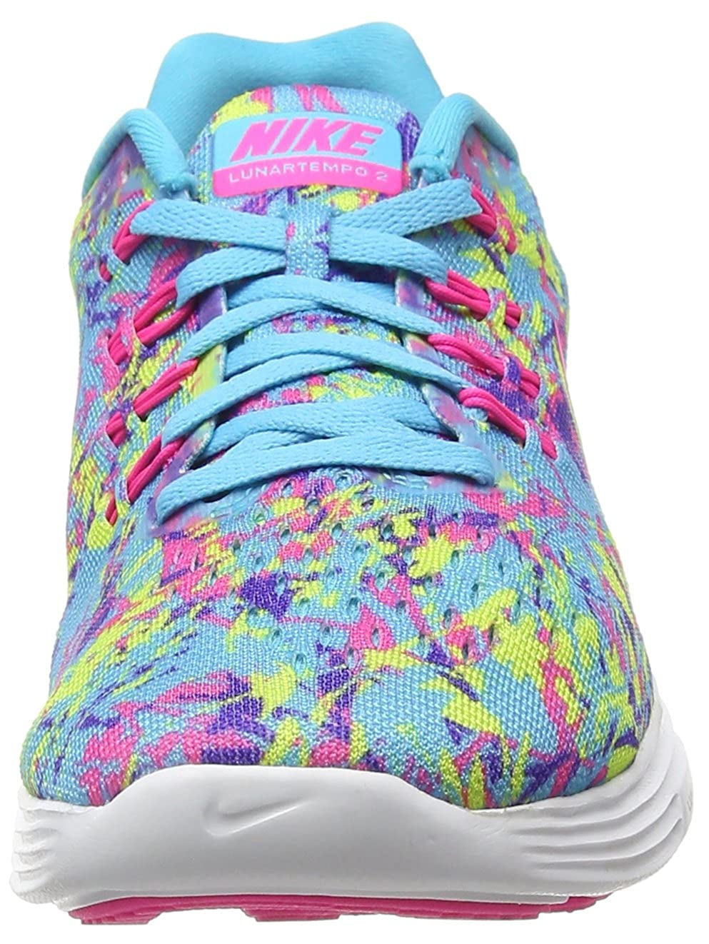 meet 42914 89117 Amazon.com   Nike Lunartempo 2 Print Gamma Blue Volt Persian Violet Pink  Blast Women s Running Shoes   Road Running
