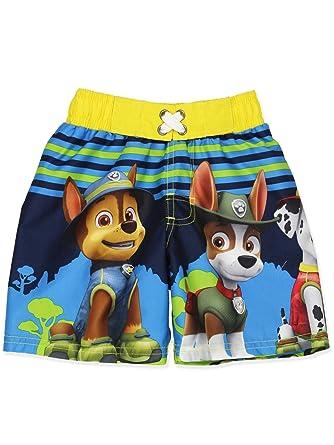 190d88fb3567a Amazon.com: Paw Patrol Boy's Swimwear Swim Trunks: Clothing