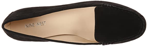 Amazon.com   Nine West Womens Happart Suede, Black 5 M US   Loafers & Slip-Ons