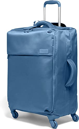 Lipault – Original Plume Spinner 65 24 Luggage – Medium Suitcase Rolling Bag for Women – Steel Blue