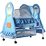 Baybee Baby Cat Multipurpose Swing Cradle cum Bassinet with Detachable Carry Cot (Blue)