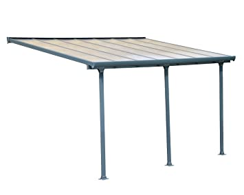 Amazon Com Palram Feria Patio Cover 10 X 14 Gray Garden