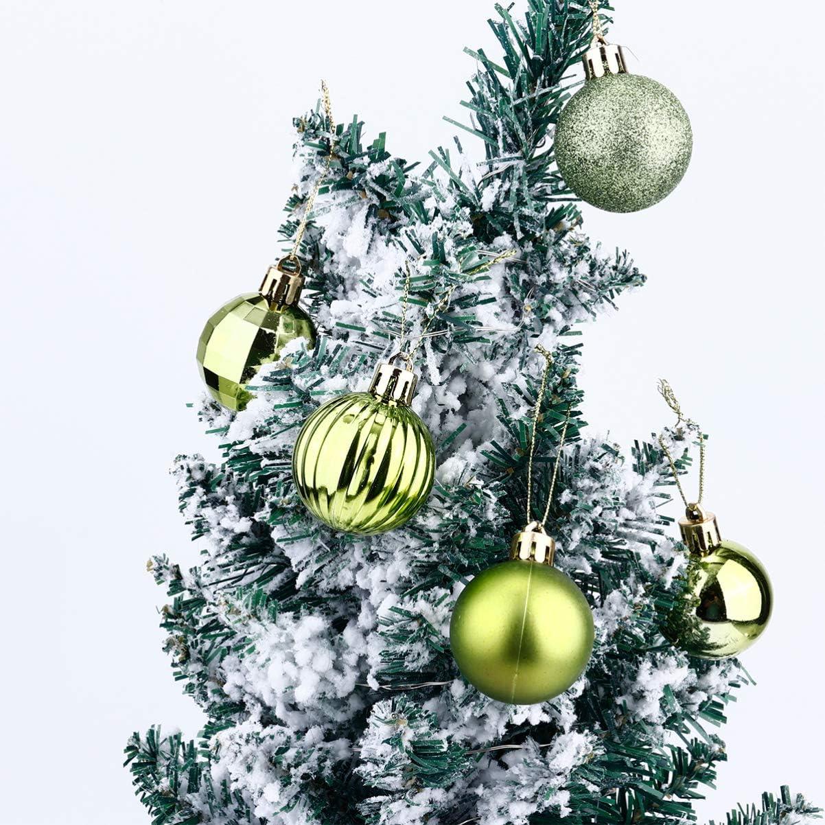 STOBOK 34 Pezzi Palline di Natale Mini Palline Decorative Infrangibili Palle di Natale Sfere Ornamenti Appesi Ad Albero Decorazione per Feste Blu