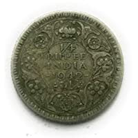 Coins & Stamps British India Coin Quarter Rupee Silver King George 6 Reeded Edge