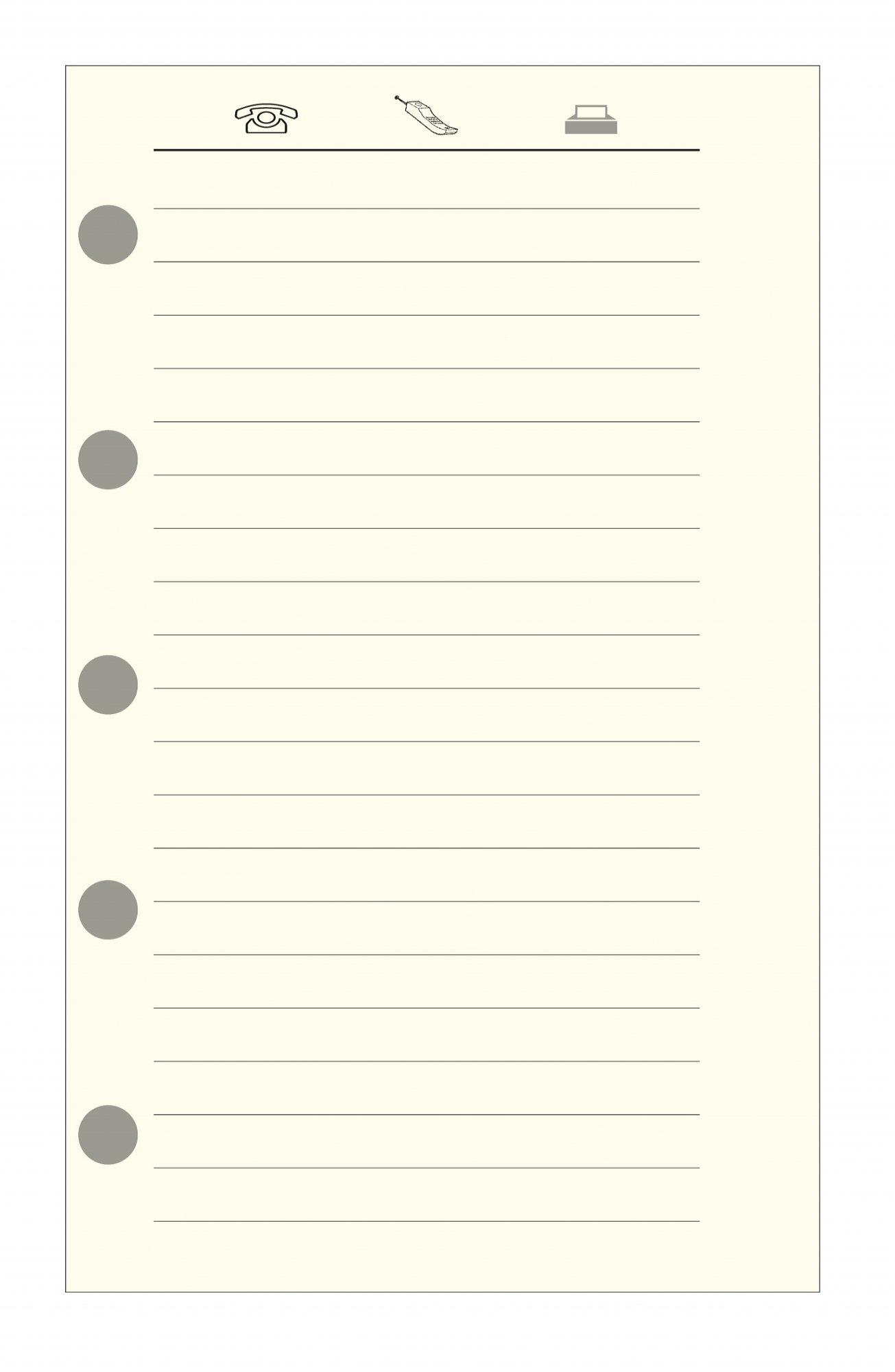 Exacompta 11516Phone Address Book Refill for Organiser Exatime 1132Ivory