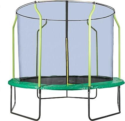 Hornet Trampolin Garten Trampolin Mehrkartonvariante Outdoor Trampolin 300 Cm Schwarz Grun Amazon De Sport Freizeit