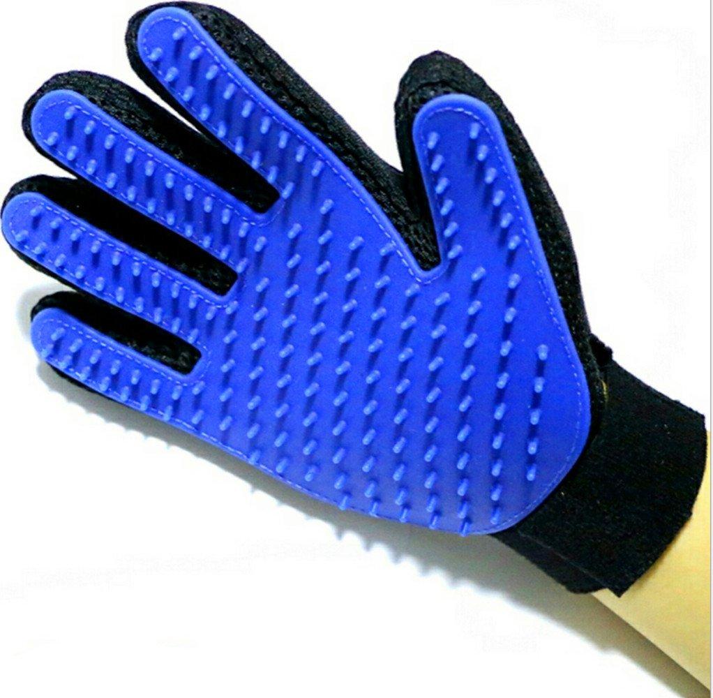 Pet Bürste Handschuhe, meiyaa 1Paar Hund Katze Pflege Pinsel Handschuh Haar Entferner Bürste für sanfte und effiziente Fellpflege sauber Werkzeug (3Farben) Pet Bürste Handschuhe
