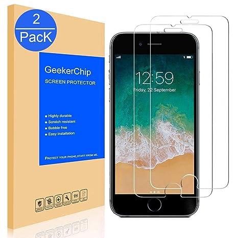 GeekerChip Protector de Pantalla para iPhone 8 Plus/7 Plus[2-Unidades]