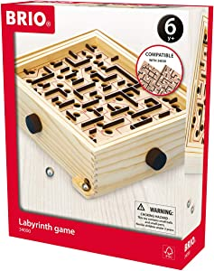 BRIO 34000 Labyrinth Game | A Classic Favorite for Kids Age 6 and Up with Over 3 Million Sold