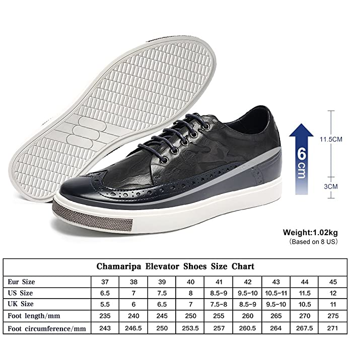 5b54f3594b3f CHAMARIPA height Increasing Shoes Mens Smooth Leather Sneakers Elevator  Shoes - 2.36 inches Taller - L62C26K015D  Amazon.co.uk  Shoes   Bags