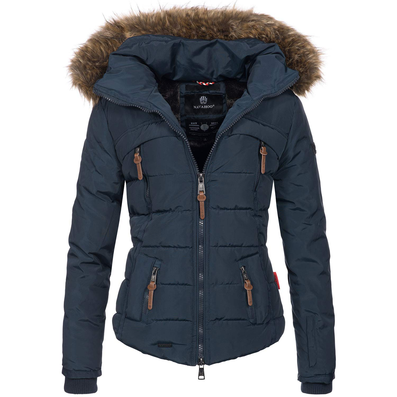Navahoo warme Damen Winter Jacke Stepp Winterjacke Kurzjacke gefüttert B625