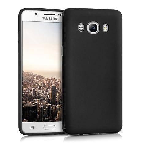 kwmobile Funda para Samsung Galaxy J5 (2016) DUOS - Carcasa para móvil en [TPU silicona] - Protector [trasero] en [negro mate]