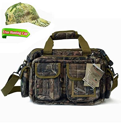 Explorer Mossy Oak Hunting Camo Padded Tactical Range Gear Bag Shooting Ammo Range Rangemaster Sling Bag 12