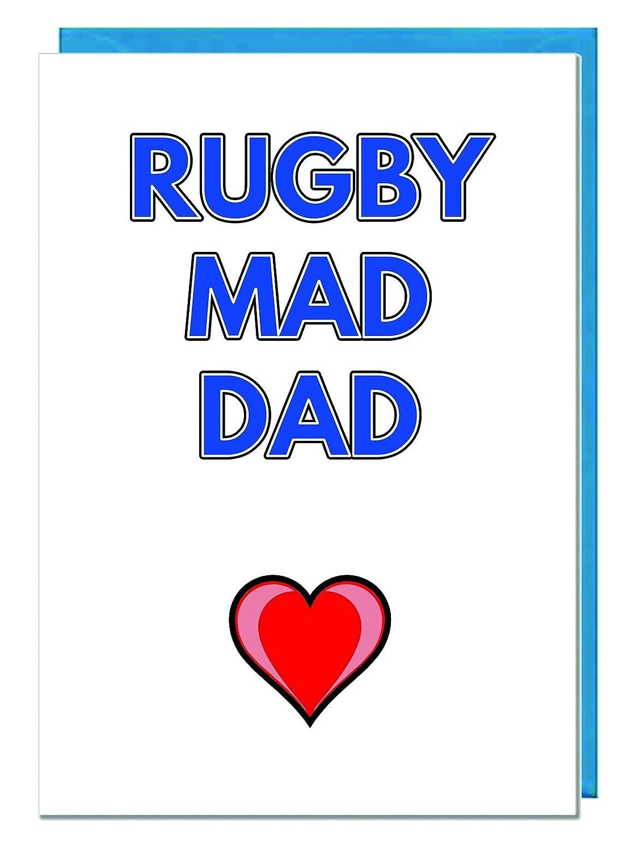 Rugby Mad Dad - PREMIUM Marfil Día Del Padre/tarjeta de ...