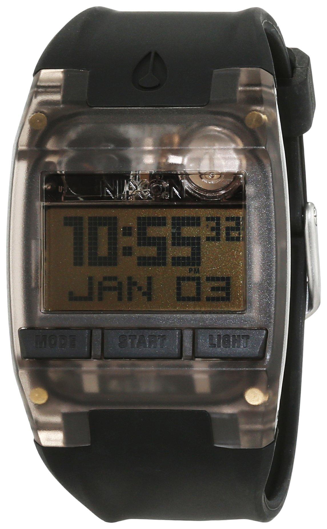 Nixon Men's Comp A408001 Black Silicone Quartz Watch