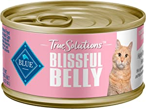 Buffalo True Solutions Blissful Belly Natural Digestive Care Adult Dry Cat Food and Wet Cat Food, Chicken