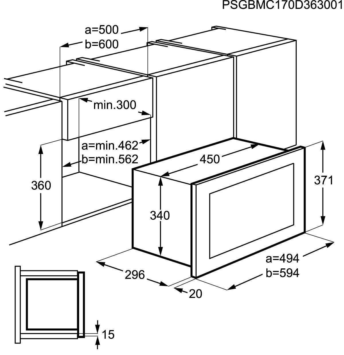 AEG MBB1755S-M acero fino Einbau-microonda Solo: Amazon.es ...