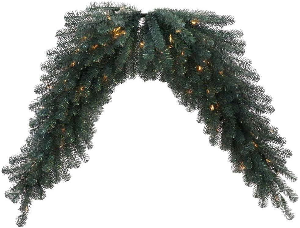 Vickerman 30976 - 6' Blue Crystal Swag Christmas Garland (N131811LED)