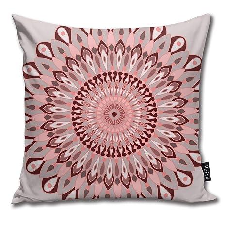 Rasyko - Funda de cojín con diseño de Mandala, Color Rosa y ...