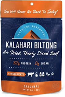 product image for Original Kalahari Biltong, Air-Dried Thinly Sliced Beef, 2oz (Pack of 1), Sugar Free, Gluten Free, Keto & Paleo, High Protein Snack