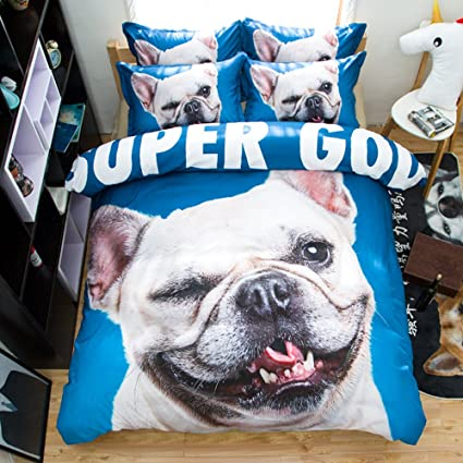 Perro Cachorro Amazing algodón microfibra suave juego de cama funda de edredón conjuntos de edredón 2