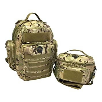 34b0bd133c6 Amazon.com   HSD Dynamic Duo Combo Diaper Bag Backpack + Tactical Lunch Bag  for The Tactical Dad (Multicam)   Baby
