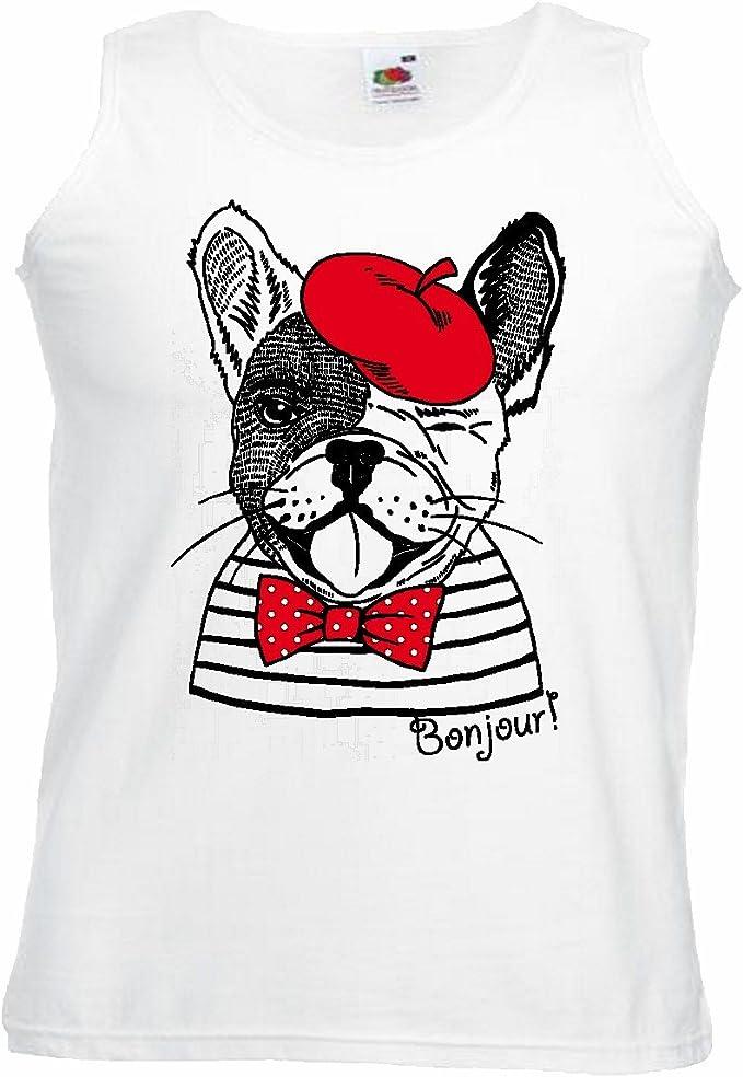 Camisa del músculo Tank Top Bulldog francés Divertido en ...