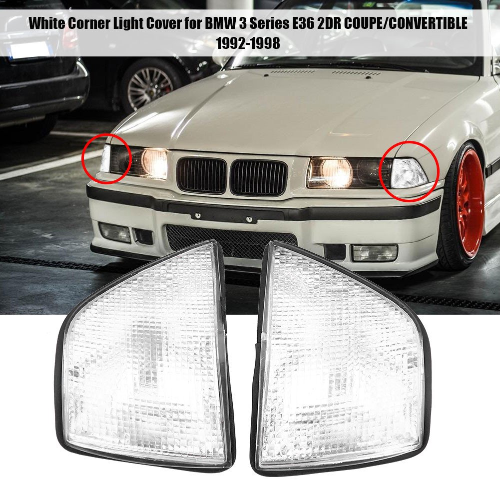 Turn Corner Lamp Lamp Shade Replacement for BMW 3 Series 318i 325i E36 4DR Sedan/& Wagon 92-98 1Pair Signal Light Covers
