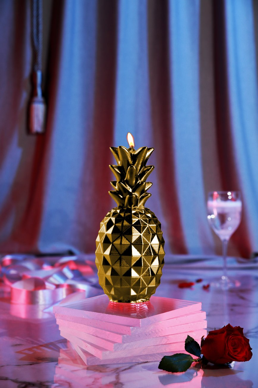 Candellana Candles Candellana- Pineapple Candle, Gold
