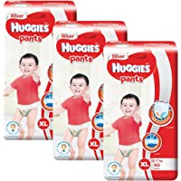 Huggies Silver Extra Large Pants, Carton, 40ct (Pack of 3)
