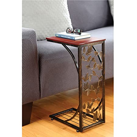 TravenPal Sofa Side Table Butterfly Design