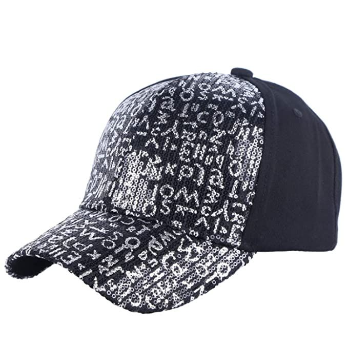 c63d78c67d8 Amazon.com  Eric Carl Women Baseball Cap Bling Sequin Handmade Fashion caps Spring  Summer Outdoor Casual Girl Hats  Clothing